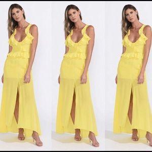 Yellow Luna maxi dress